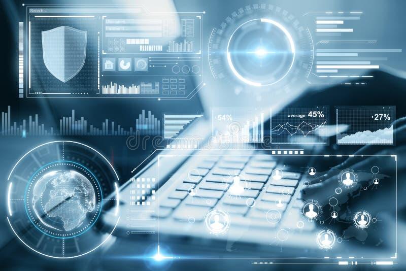 Technologie, avenir et concept d'innovation illustration de vecteur