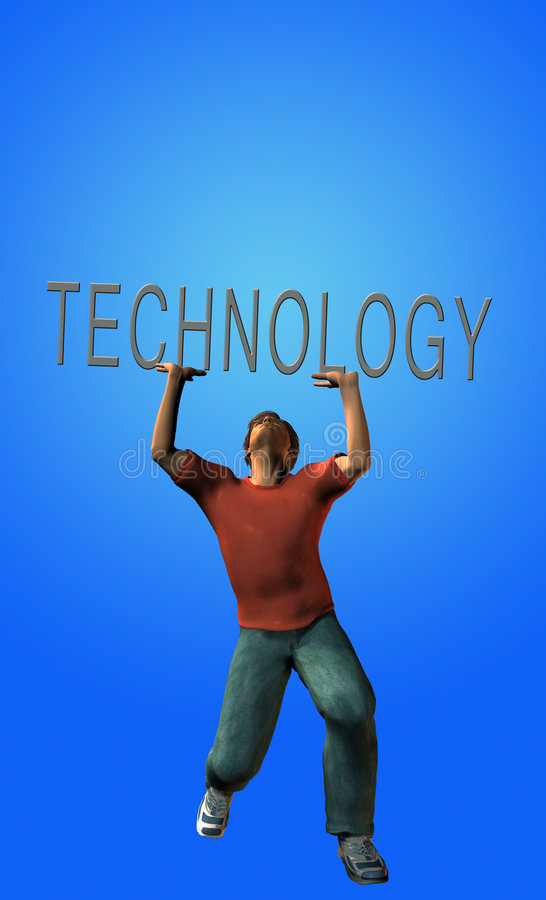 Technologie-Belastung vektor abbildung