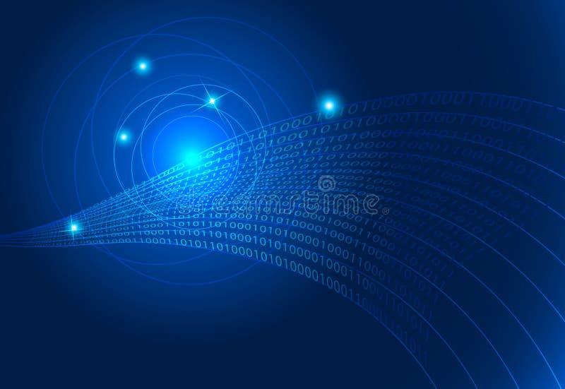 Technologie binaire codeachtergrond als achtergrond stock illustratie