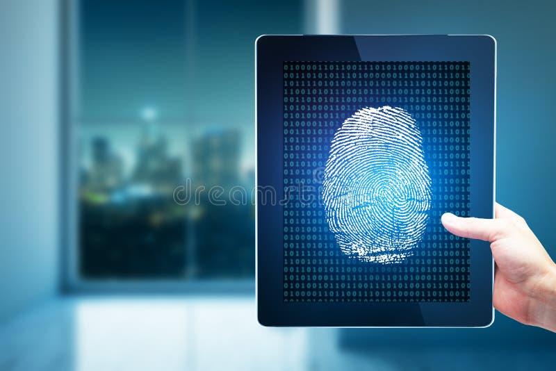 Technologie, biometrie en innovartionconcept stock foto's