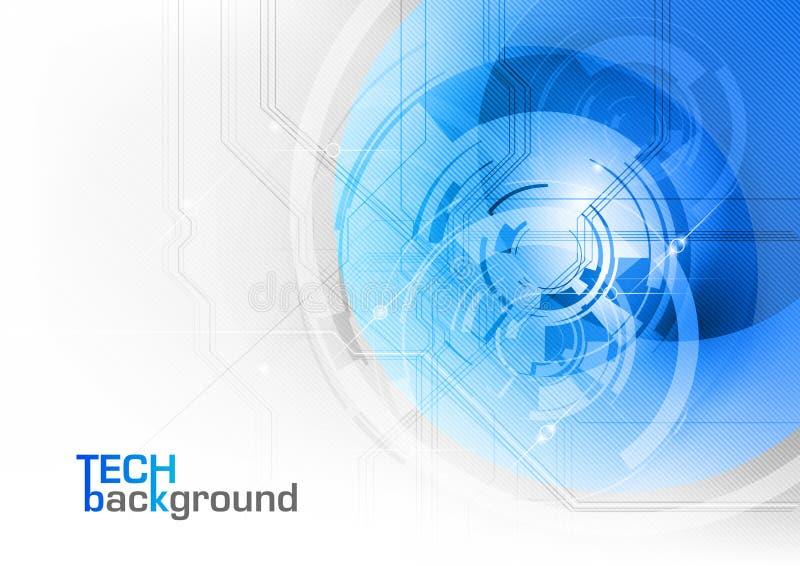 Technologie bleue illustration stock