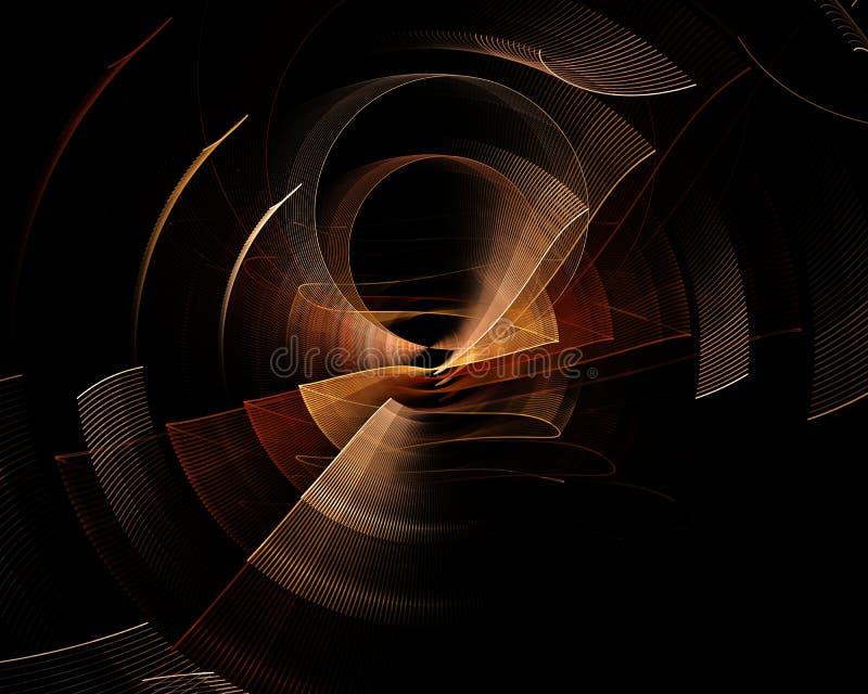 Technologie colorée abstraite ou fond scientifique, image générée par ordinateur Contexte de fractale avec le style de technologi illustration libre de droits