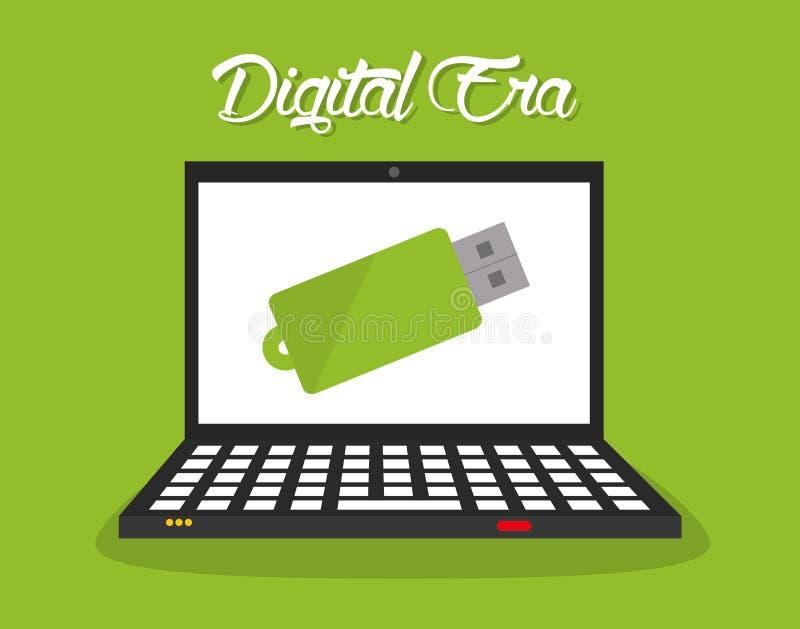 Technologie d'ère de Digital illustration stock