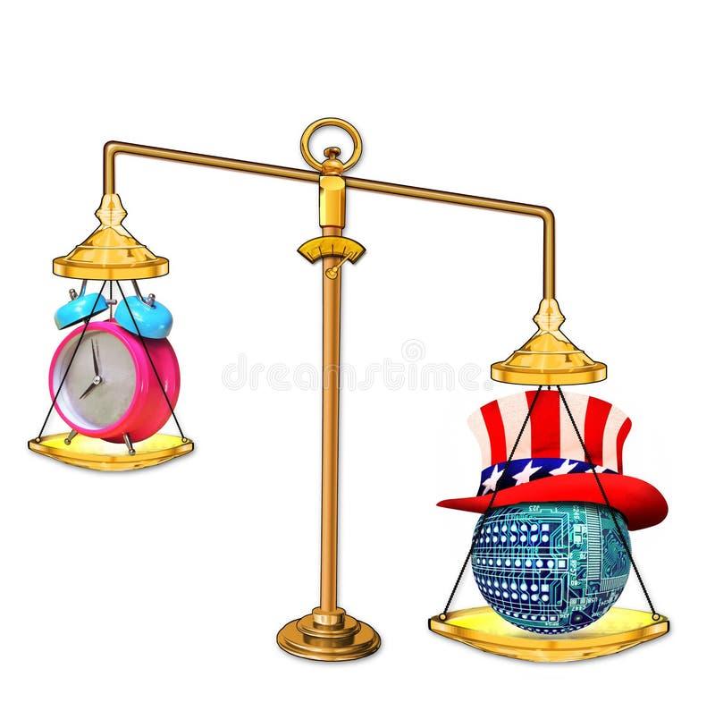 Technologie d'équilibre avec l'Amérique image stock