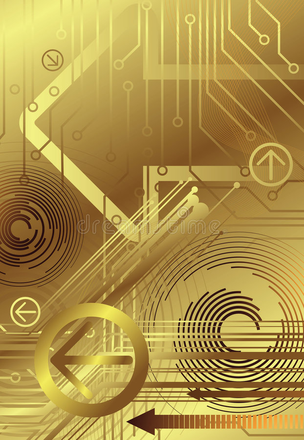 Technologie d'or 2/2 illustration de vecteur