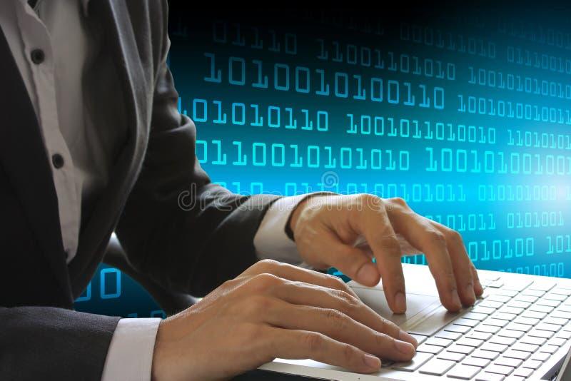 Technologie d'affaires de protection des données de sécurité de Cyber photographie stock libre de droits