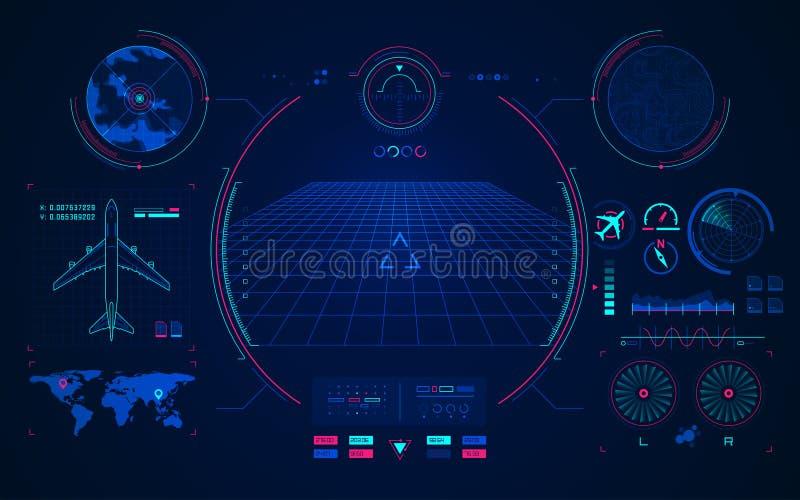Technologie d'aviation illustration libre de droits