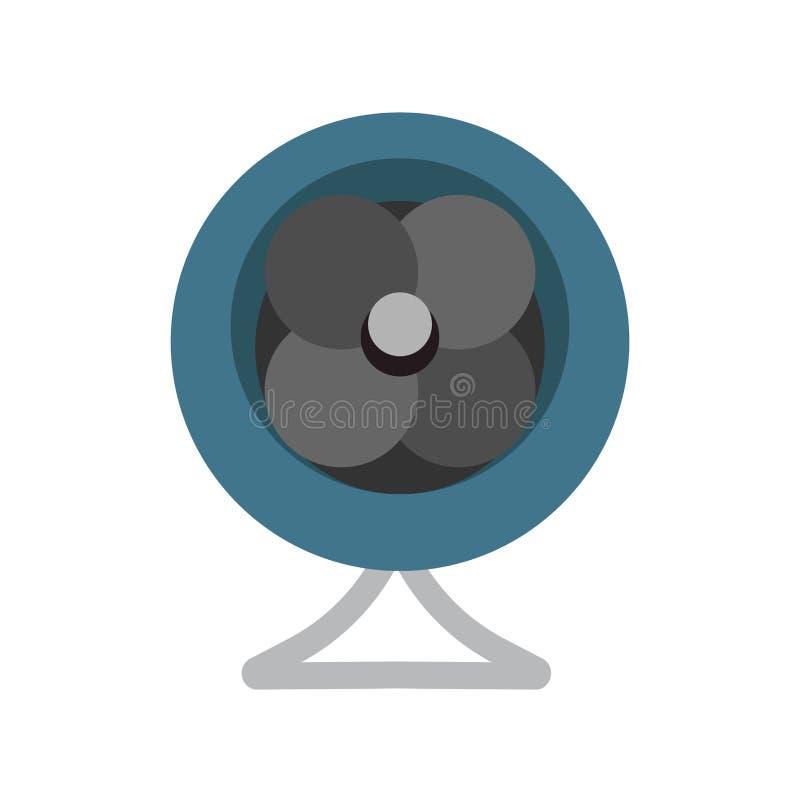 Technologie d'icône de vecteur de symbole de conception d'équipement d'air de vent de fan Conditionneur de refroidissement d'acce illustration stock