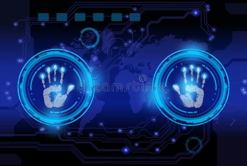 Technologie d'impression de main de balayage illustration libre de droits