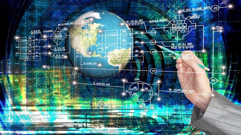 Technologie d'Internet d'ordinateur d'ingénierie images libres de droits