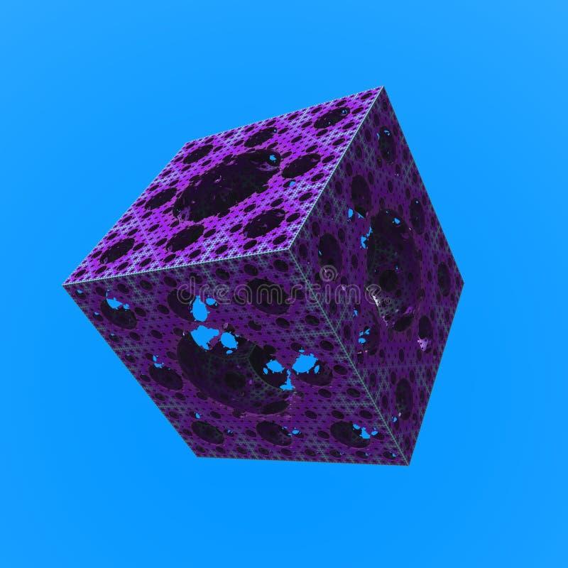 Technologie-3D Kubus stock illustratie