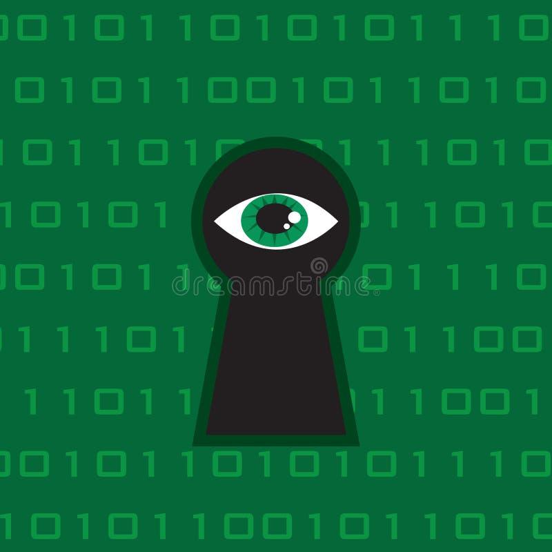 Technologie d'oeil de trou de la serrure illustration de vecteur