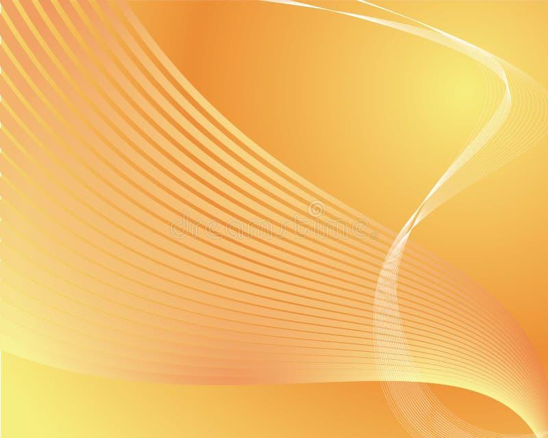 technologie d'orange de fond illustration de vecteur