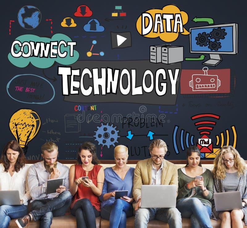 Technologie-Daten-Digital-Internet-Innovations-Technologie-Konzept lizenzfreie stockbilder