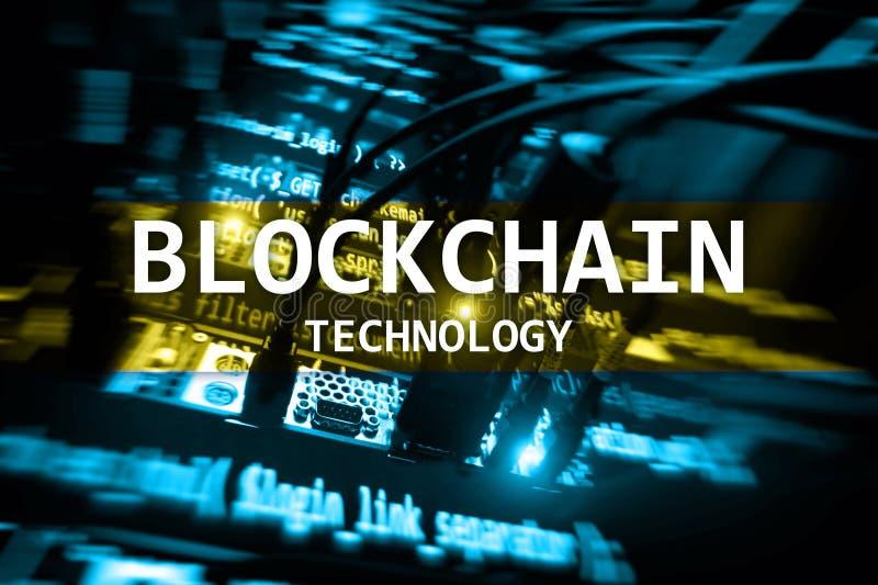 Technologie de Blockchain, exploitation de cryptocurrency image libre de droits