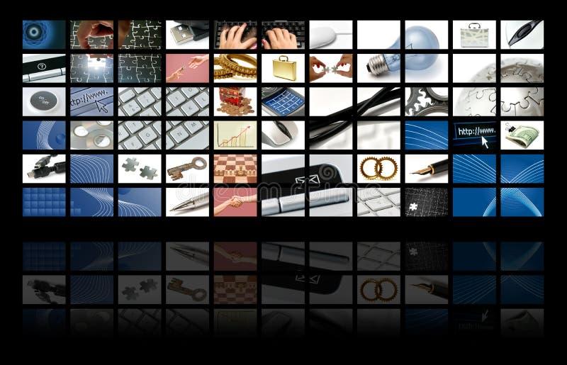 technologie de composition d'affaires illustration de vecteur