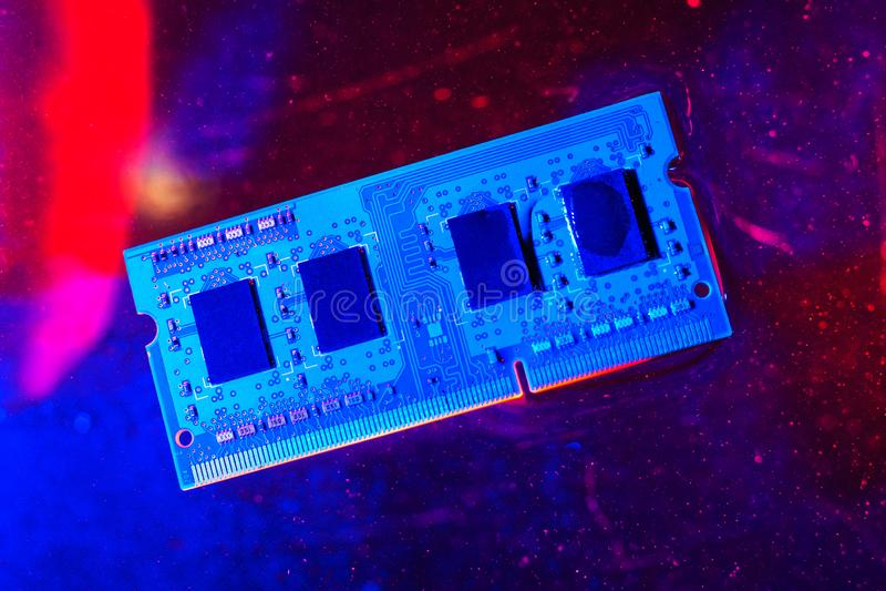 technologie de concept cyber-électronique fond technologique photos stock
