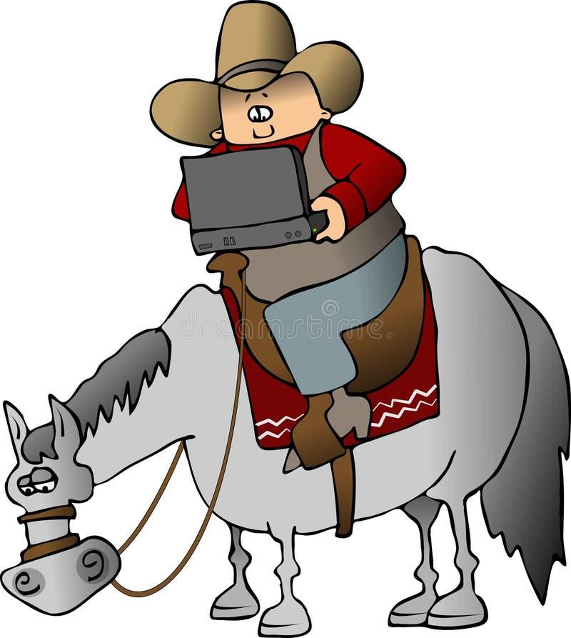 Technologie de cowboy illustration de vecteur