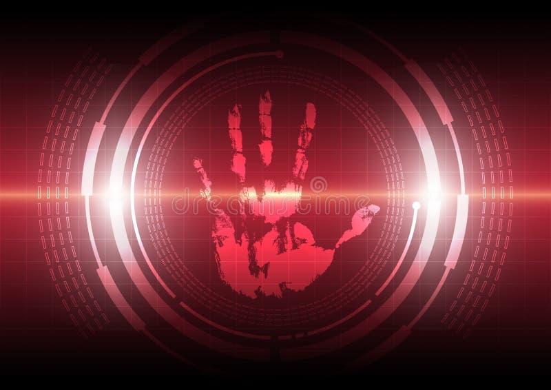 Technologie de handprint de balayage illustration libre de droits