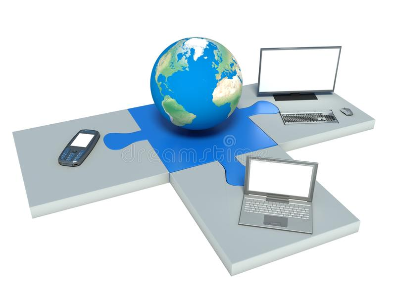 Technologie de l'information du monde illustration stock