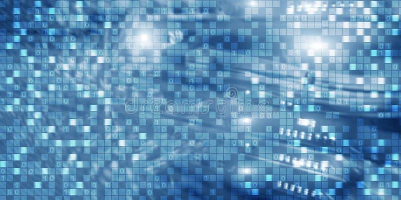 Technologie de l'information de matrice de fond de Digital et concept d'Internet illustration libre de droits