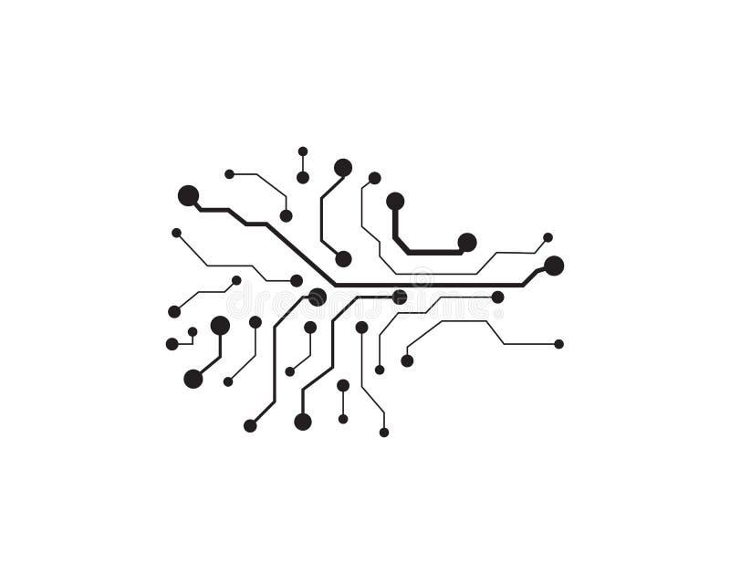 Technologie de logo de symbole de vecteur de conception d'illustration de circuit illustration de vecteur