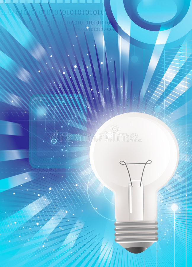 technologie de lumière d'ampoule illustration libre de droits