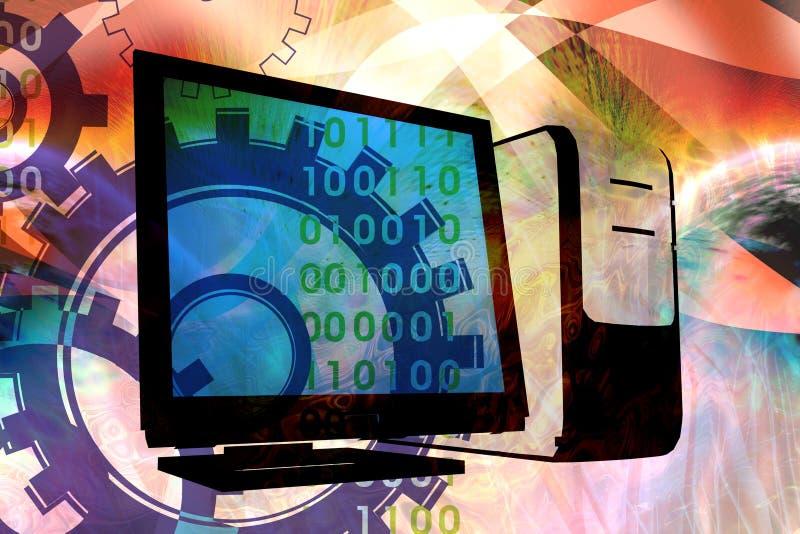 technologie de mélange d'ordinateur illustration de vecteur