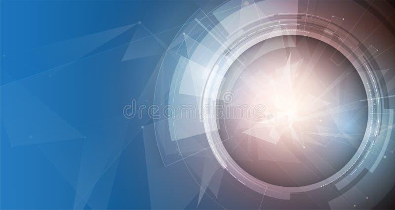 Technologie de media, évolution de l'intégration dans la vie, pour des affaires illustration stock