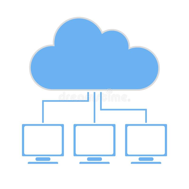 Technologie de nuage illustration de vecteur