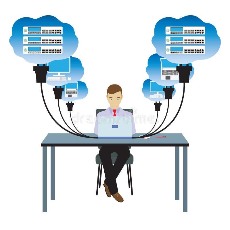 Technologie de nuage de réseau Illustration illustration de vecteur