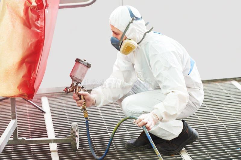 Technologie de peinture de voiture photographie stock libre de droits