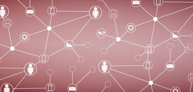 technologie de planète de téléphone de la terre de code binaire de fond illustration libre de droits