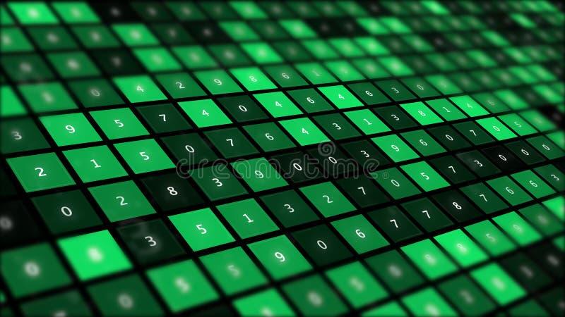 Technologie de pointe et fond d'abrégé sur cyberespace illustration libre de droits