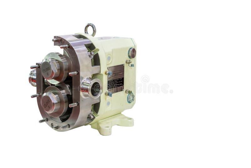 Technologie de pointe et qualité de la pompe à vide à haute pression rotatoire ou de lobe de vitesse avec la boîte de vitesse pou images libres de droits