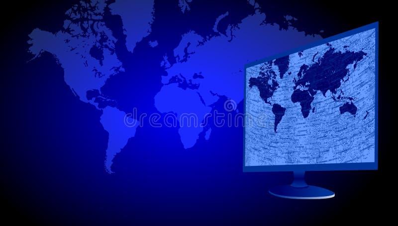 Technologie de r?seau du monde Communication de technologie illustration de vecteur