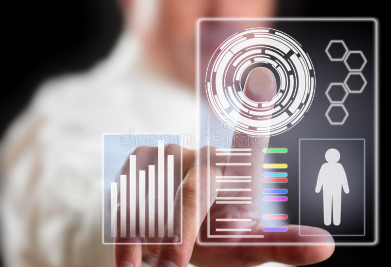 Technologie de reproduction d'image de contrat à terme image stock
