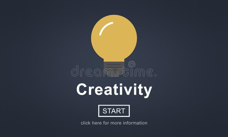Technologie de solution d'innovation d'inspiration d'idées de créativité concentrée illustration libre de droits
