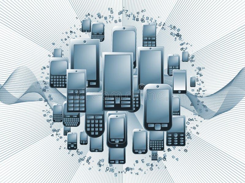 Technologie de téléphone de Digitals illustration stock