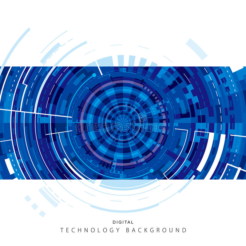 Technologie digitale achtergrond stock illustratie