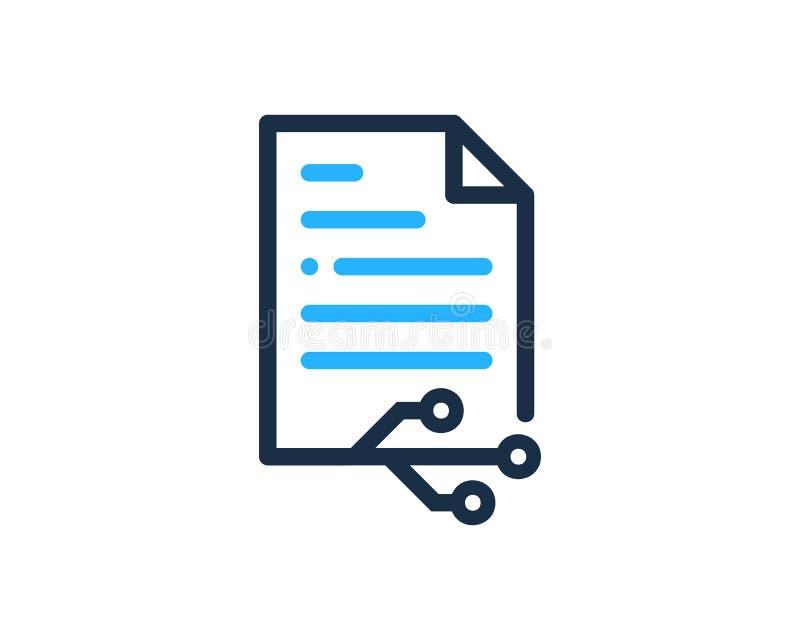 Technologie-Dokumenten-Ikone Logo Design Element vektor abbildung