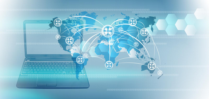 Technologie du monde illustration libre de droits