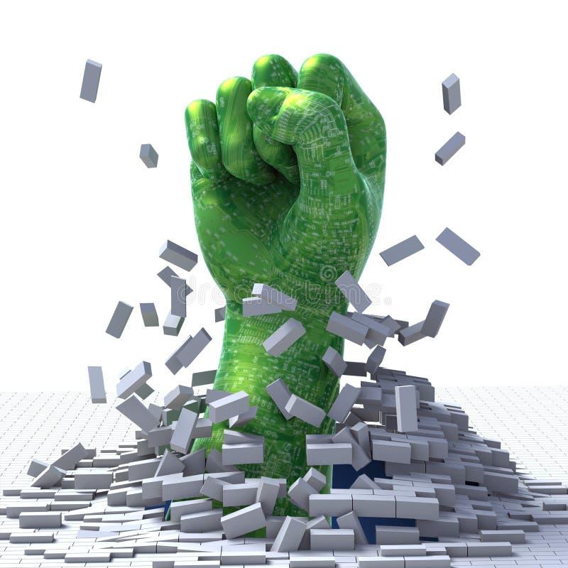 Technologie-Durchbruch lizenzfreie abbildung
