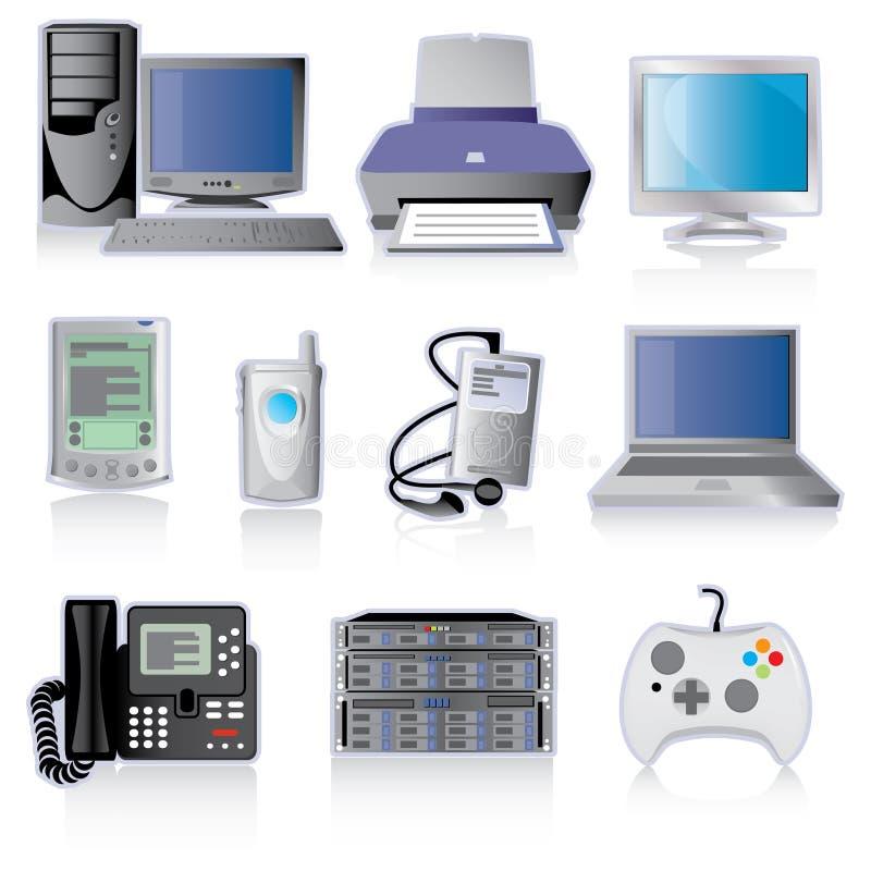 Technologie-Einheit-Ikonen lizenzfreie abbildung