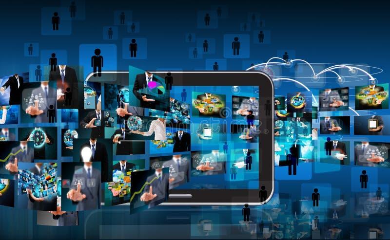 Technologie en bedrijfsachtergrond stock fotografie