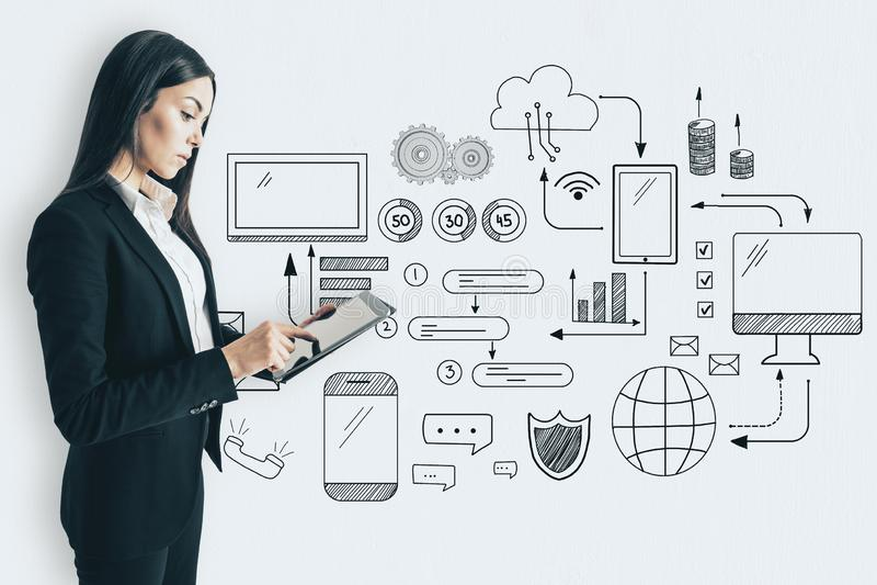 Technologie en communicatie concept royalty-vrije stock fotografie