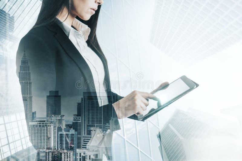 Technologie en communicatie concept stock afbeelding