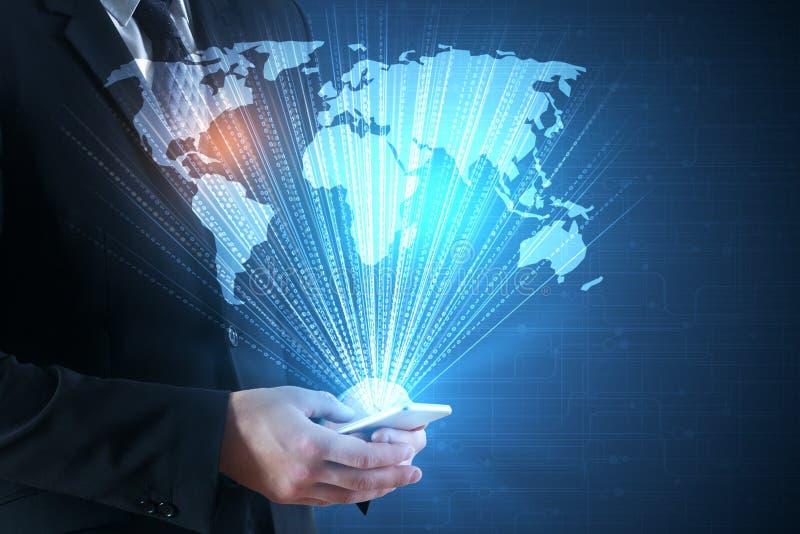 Technologie en globale zaken stock fotografie