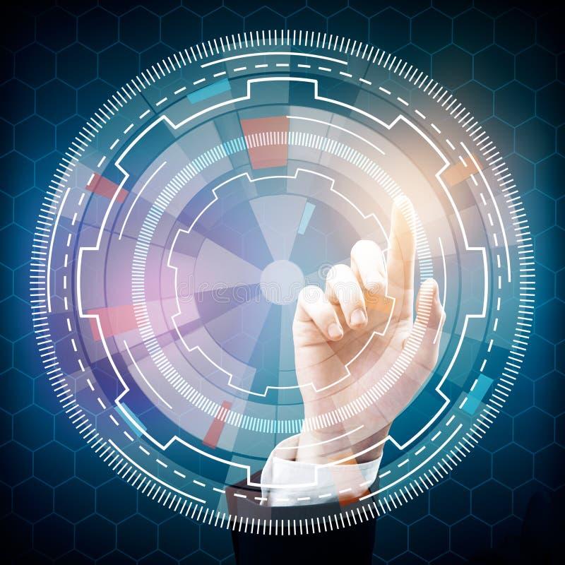 technologie en innovatieconcept royalty-vrije illustratie