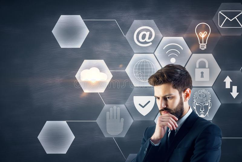 Technologie en Internet-concept stock foto